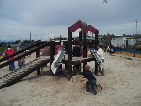 Sandpit playground in Ayr Scotland