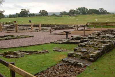 Birdoswald Roman Fort on Hadrian's Wall in Cumbria