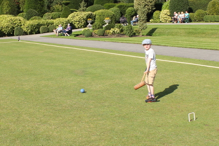 Brodsworth at war - Croquet on the lawn