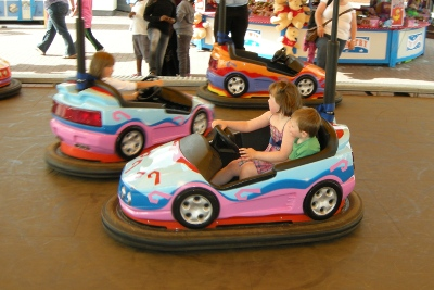 Children's dodgems at Clacton-on-Sea