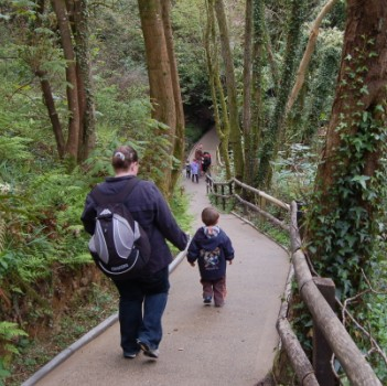 Combe Martin Wildlife and Dinosaur Park Devon - Steep hill