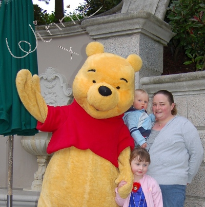 Winnie the Pooh with autograph at Disneyland Paris