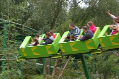 Green Dragon Roller-coaster at Greenwood Forest Park