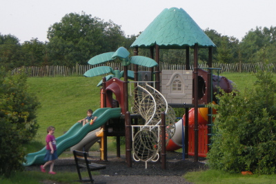 Playground equipment at Gullivers Land Camping and Caravan club site