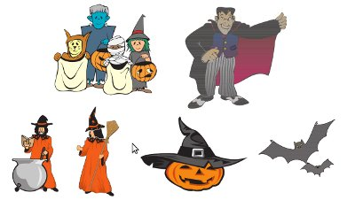 Halloween Pictures to colour