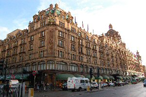 Harrods department store in London