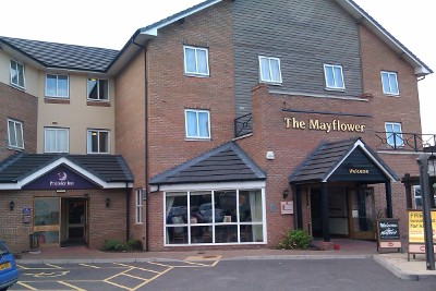 Harwich Premier Inn and Mayflower pub restaurant