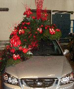 Car with flowers for the Bloemencorso