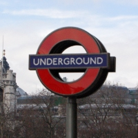London underground tube station sign