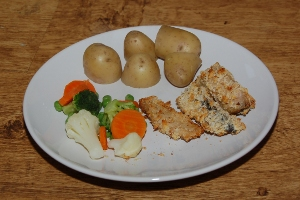 Mackerel Goujons - cooking with kids