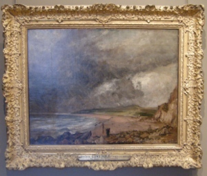 British art: Constable painting at Musee du Louvre, Paris