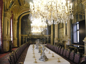 Napoleon III dining hall at Musee du Louvre, Paris