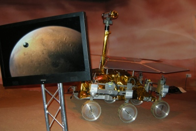 ExoMars rover robot at UK National Space Centre