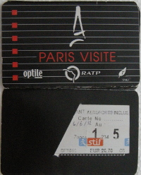 Paris Visite train pass metro