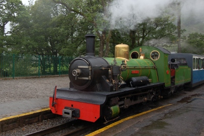 Steam train on the Ravenglass and Eskdale Railway