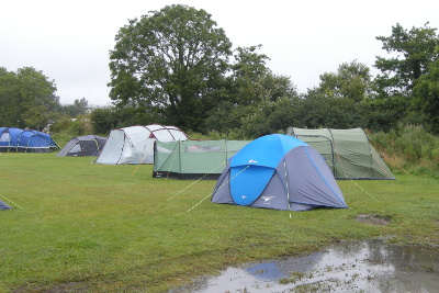 Haven campsite after heavy rain