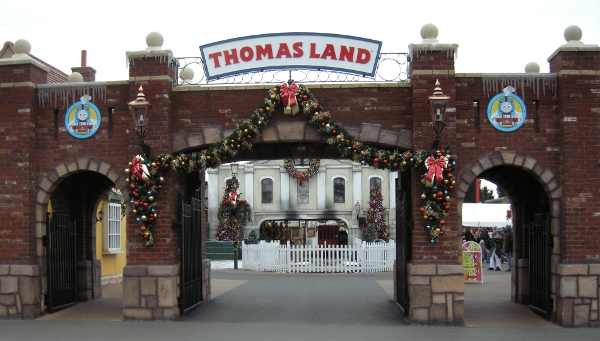 Entrance to Thomas Land at Drayton Manor UK