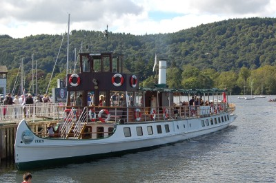 Tern boat - Windermere Cruises - moored at Bowness-on-Windermere