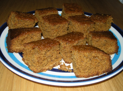 Traditional homemade Yorkshire Parkin cake